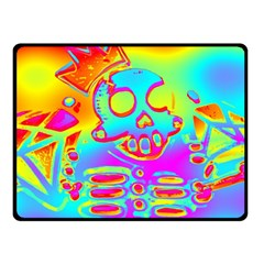 Rainbow Skeleton King Double Sided Fleece Blanket (small)