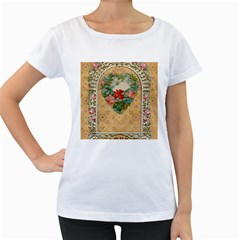 Valentine 1171144 1920 Women s Loose Fit T Shirt (white)