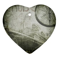 Vintage 1135014 1920 Heart Ornament (two Sides)