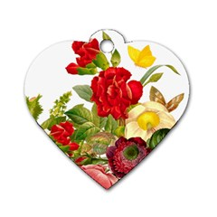 Flower Bouquet 1131891 1920 Dog Tag Heart (two Sides)