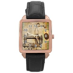 Sewing 1123718 1920 Rose Gold Leather Watch