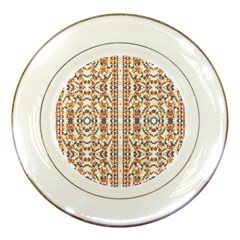 Multicolored Geometric Pattern  Porcelain Plates