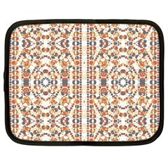 Multicolored Geometric Pattern  Netbook Case (large)
