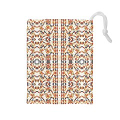 Multicolored Geometric Pattern  Drawstring Pouches (large)