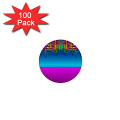 Sky Earth And Star Fall 1  Mini Buttons (100 Pack)