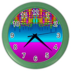 Sky Earth And Star Fall Color Wall Clocks