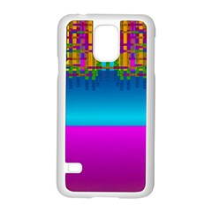 Sky Earth And Star Fall Samsung Galaxy S5 Case (white)