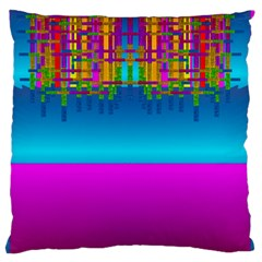 Sky Earth And Star Fall Large Flano Cushion Case (one Side)