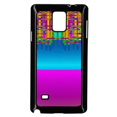 Sky Earth And Star Fall Samsung Galaxy Note 4 Case (black)