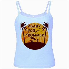 Ready For Summer Baby Blue Spaghetti Tank