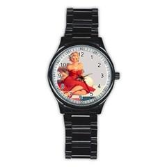 Retro 1107638 1920 Stainless Steel Round Watch