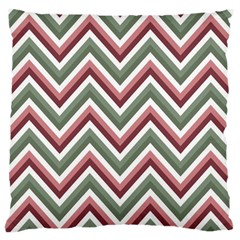 Chevron Blue Pink Large Cushion Case (two Sides)