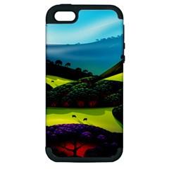 Morning Mist Apple Iphone 5 Hardshell Case (pc+silicone)