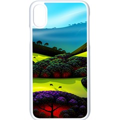 Morning Mist Apple Iphone X Seamless Case (white)