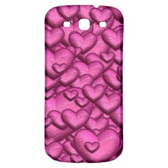 Shimmering Hearts Pink Samsung Galaxy S3 S Iii Classic Hardshell Back Case