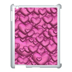 Shimmering Hearts Pink Apple Ipad 3/4 Case (white)