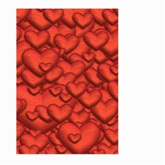 Shimmering Hearts Deep Red Large Garden Flag (two Sides)