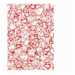Vivid Hearts, Red Large Garden Flag (two Sides)