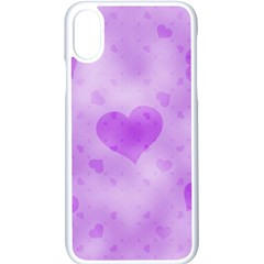 Soft Hearts D Apple Iphone X Seamless Case (white)