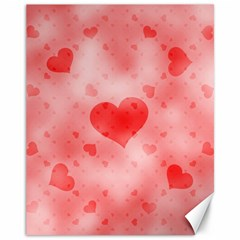 Soft Hearts B Canvas 11  X 14