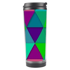 Background Geometric Triangle Travel Tumbler