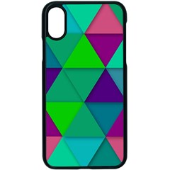 Background Geometric Triangle Apple Iphone X Seamless Case (black)