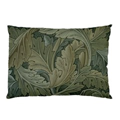 Vintage Background Green Leaves Pillow Case