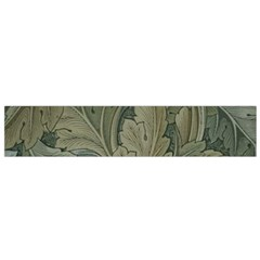 Vintage Background Green Leaves Small Flano Scarf