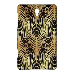 Gold, Black,peacock Pattern,art Nouveau,vintage,belle Epoque,chic,elegant,peacock Feather,beautiful Samsung Galaxy Tab S (8 4 ) Hardshell Case
