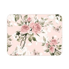 Pink Shabby Chic Floral Double Sided Flano Blanket (mini)