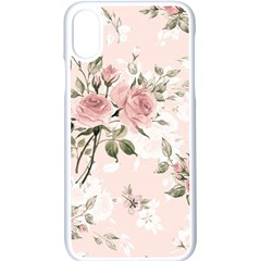 Pink Shabby Chic Floral Apple Iphone X Seamless Case (white)