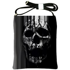 Black And Grey Nightmare Shoulder Sling Bags