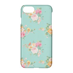 Mint,shabby Chic,floral,pink,vintage,girly,cute Apple Iphone 8 Hardshell Case