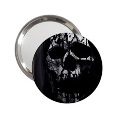 Black And Grey Nightmare 2 25  Handbag Mirrors