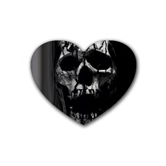 Black And Grey Nightmare Heart Coaster (4 Pack)