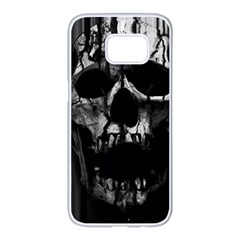 Black And Grey Nightmare Samsung Galaxy S7 Edge White Seamless Case