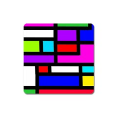 Dutch Modern Abstract Square Magnet