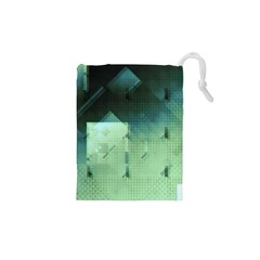 Mc Escher Inspired Fractal Pattern Drawstring Pouches (xs)