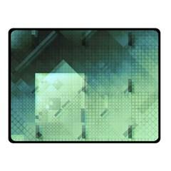 Mc Escher Inspired Fractal Pattern Fleece Blanket (small)