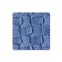 Knitted Wool Square Blue Square Magnet