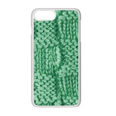 Knitted Wool Square Green Apple Iphone 8 Plus Seamless Case (white)