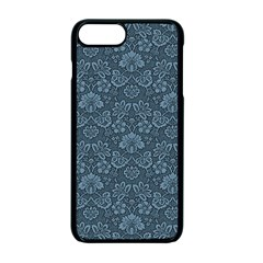 Damask Blue Apple Iphone 7 Plus Seamless Case (black)