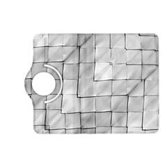 Silver Grid Pattern Kindle Fire Hd (2013) Flip 360 Case