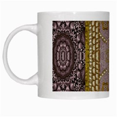 Gothic In Modern Stars And Pearls White Mugs