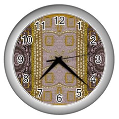 Gothic In Modern Stars And Pearls Wall Clocks (silver)