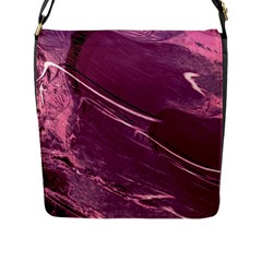 Hot Magenta Abstract Textured Fractal, Inspired By A Butterfly s Wing Flap Messenger Bag (l)
