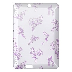 Beautiful,violet,floral,shabby Chic,pattern Kindle Fire Hdx Hardshell Case
