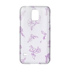 Beautiful,violet,floral,shabby Chic,pattern Samsung Galaxy S5 Hardshell Case