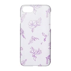 Beautiful,violet,floral,shabby Chic,pattern Apple Iphone 8 Hardshell Case