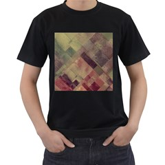 Vintage Style Graphic Print Men s T Shirt (black)